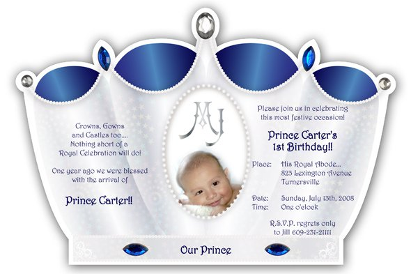 Prince First Birthday Invitations – Prince 1st Birthday Invitations