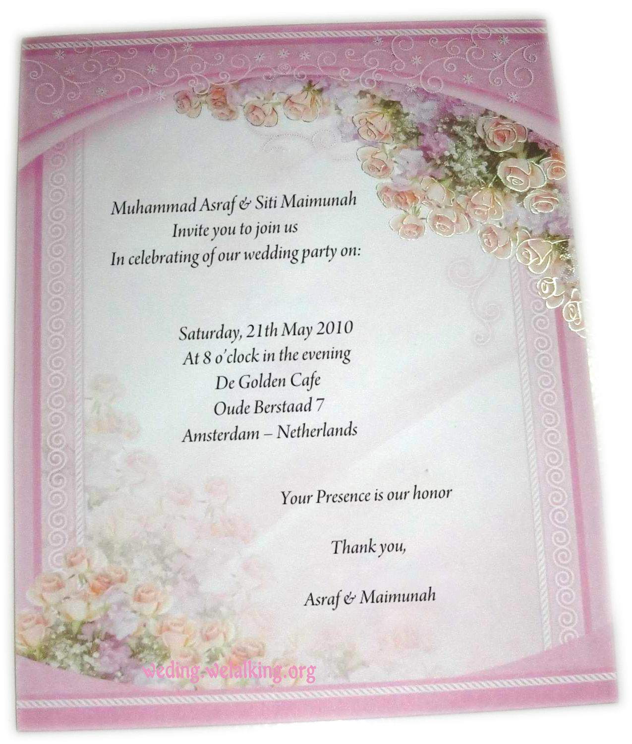 Love Words Wedding Invitation Wording
