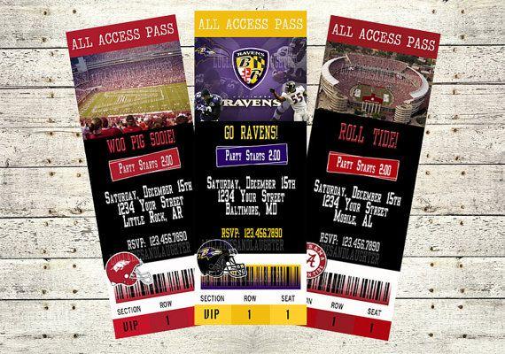 Lsu Football Party Invitations