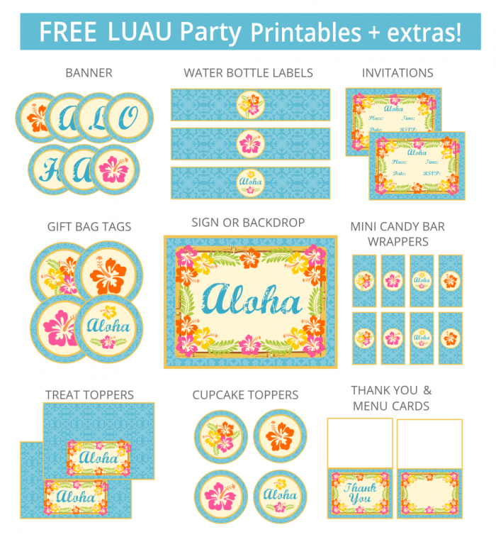 Luau Invitations Free