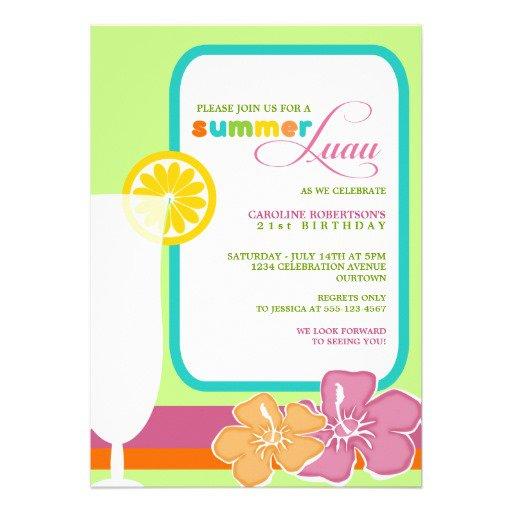 Luau Party Invitation Ideas
