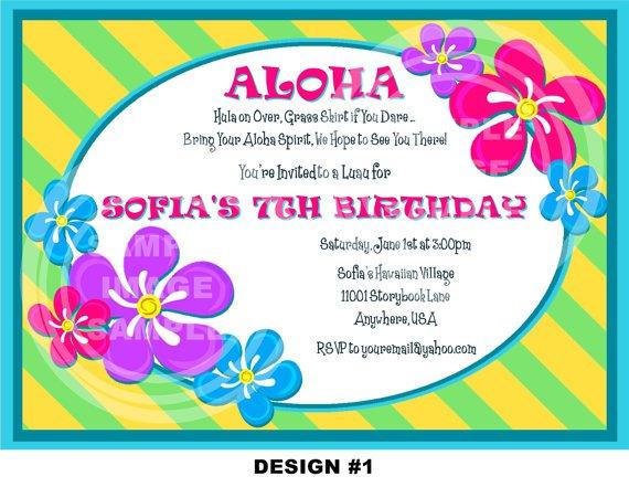 Luau Party Invitations Wording Ideas