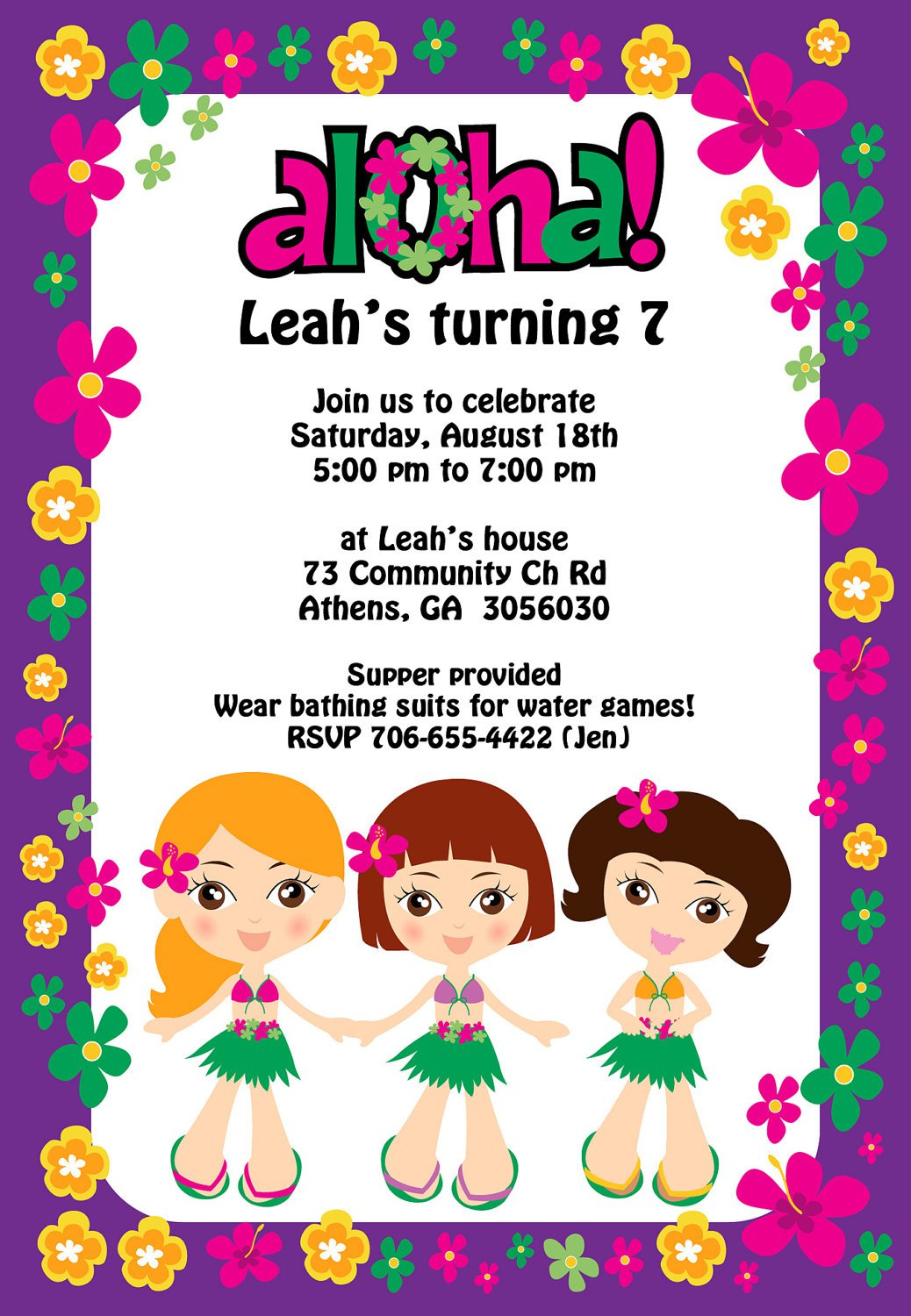 Luau Retirement Party Invitations