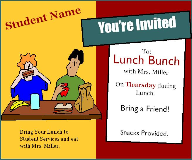 Lunch Bunch Invitation Template
