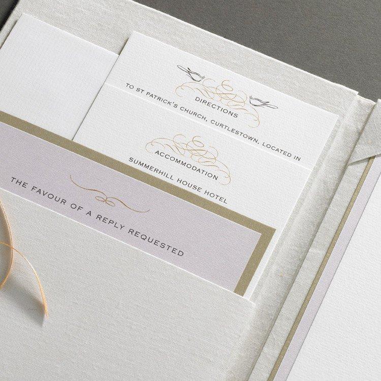 Luxury Silk Folio Wedding Invitations