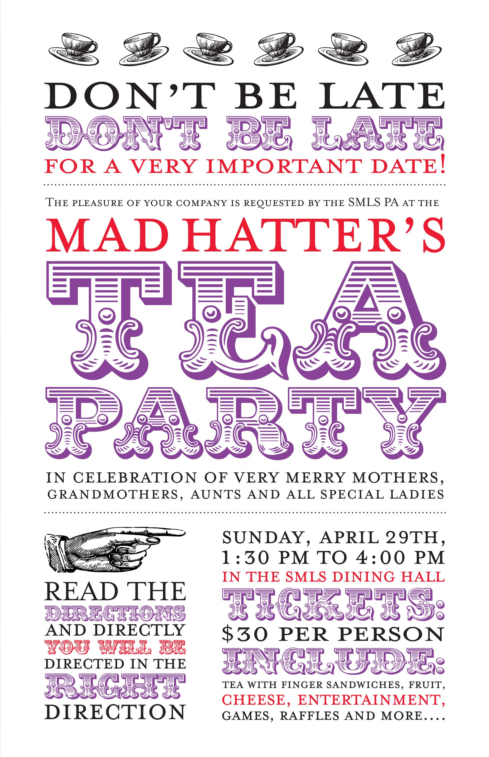 Mad Hatter Party Invitations Free
