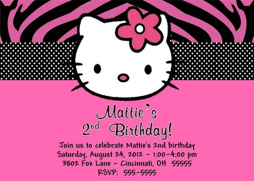 Make Hello Kitty Invitations