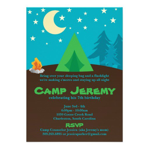 Make Your Own Camping Party Invitations