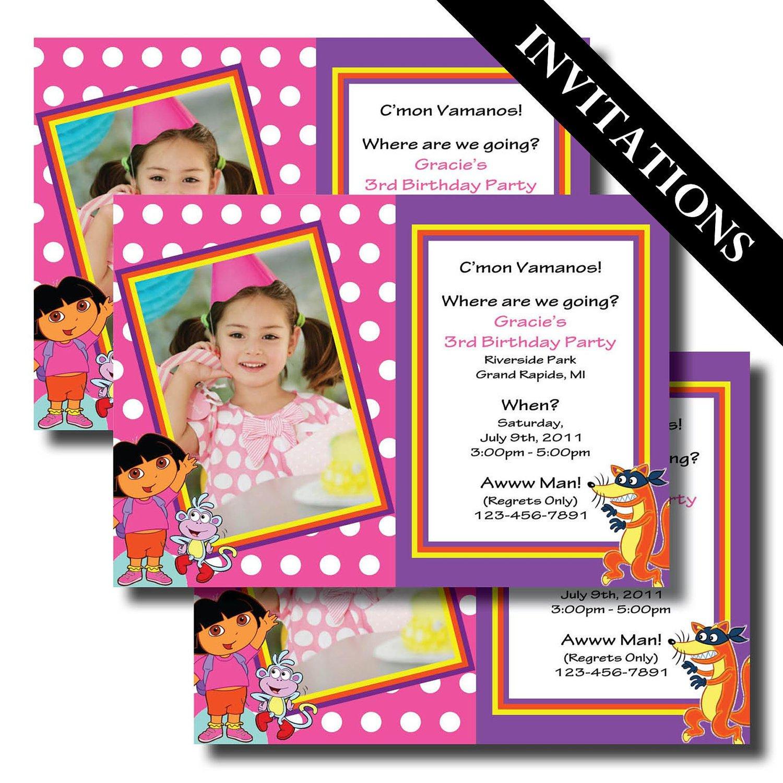 Make Your Own Dora Birthday Invitations