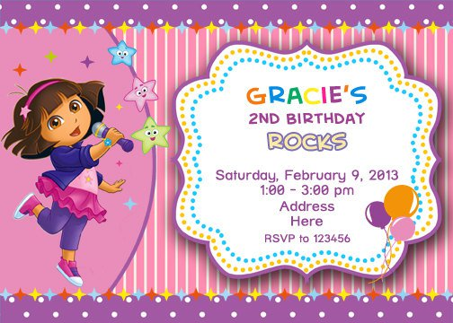 Make Your Own Dora Invitations