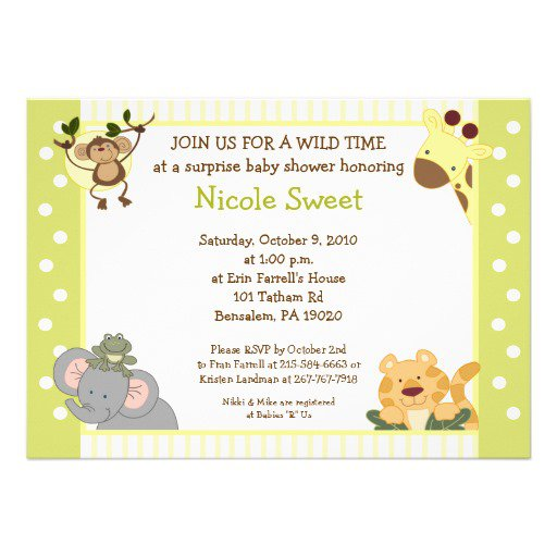 Make Your Own Jungle Baby Shower Invitations