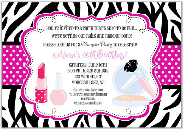 Makeover Party Invitation Wording