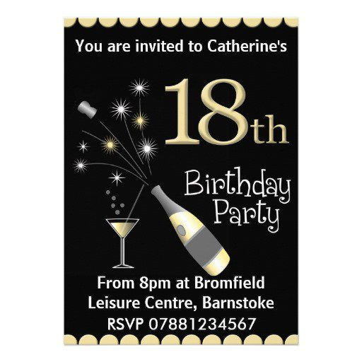 Male 18th Birthday Invitations