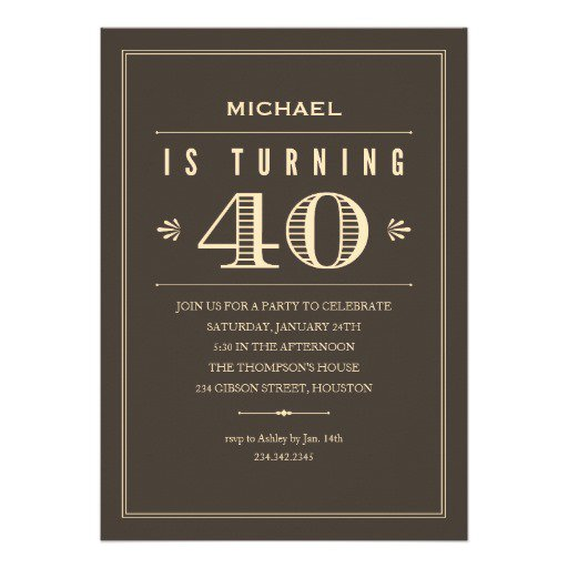 Male 40th Birthday Surprise Invitations