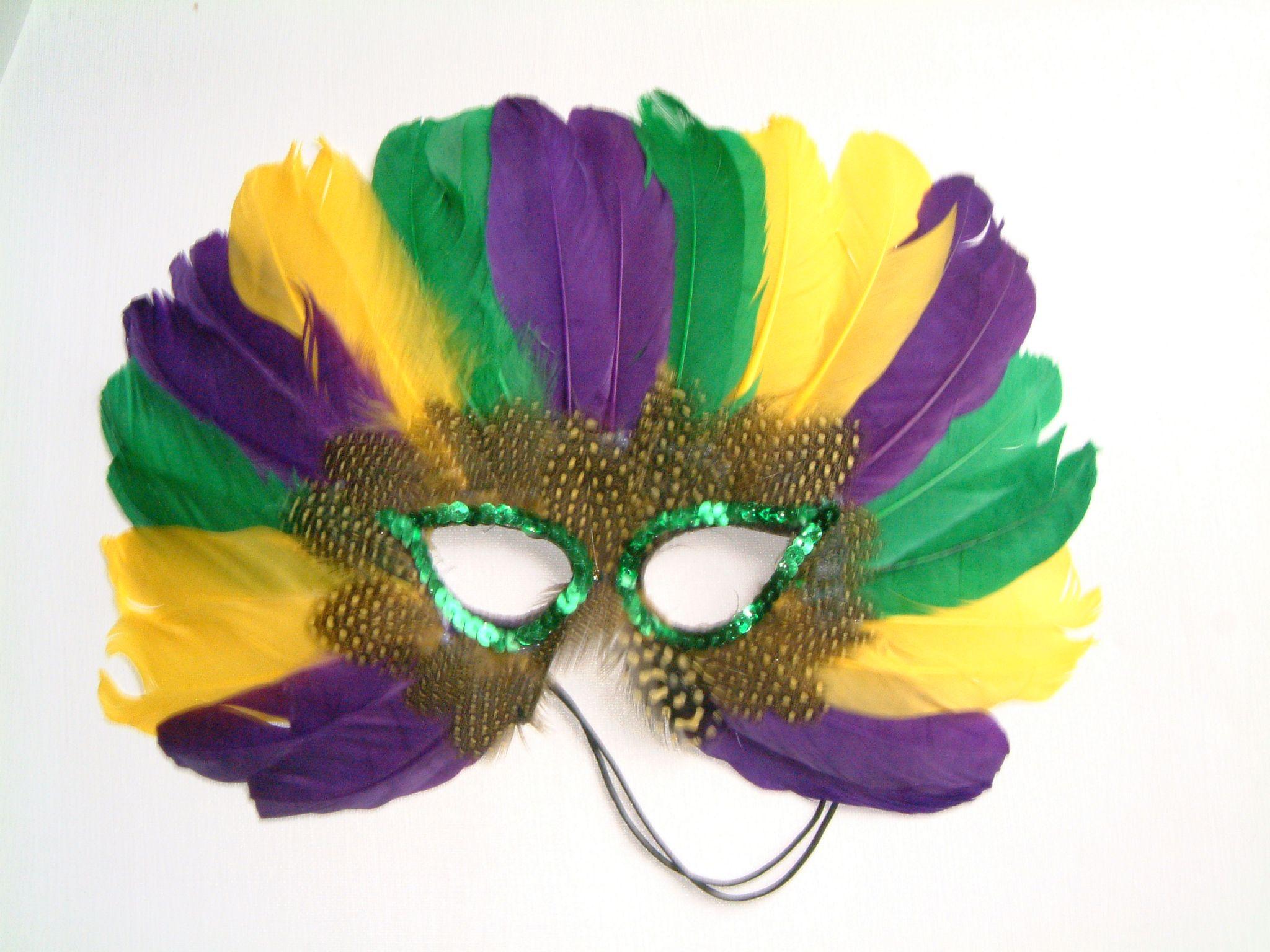 Mardi Gras Feather Masks
