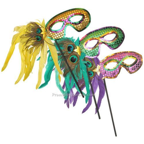 Mardi Gras Feather Masks Wholesale