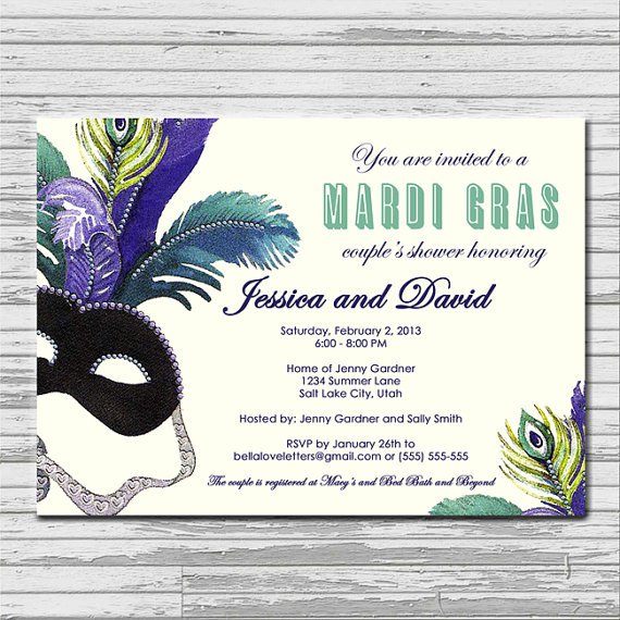 Mardi Gras Masquerade Ball Invitations