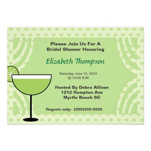 Margarita Bridal Shower Invitation