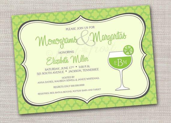 Margarita Wedding Shower Invitations