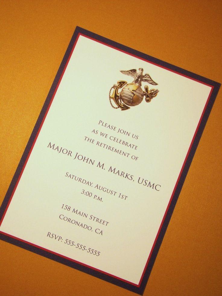 Marine Corps Retirement Invitations