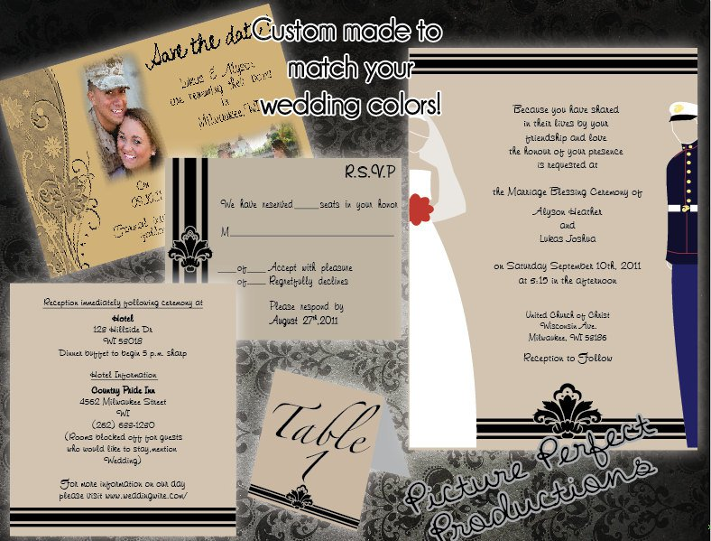 Marine Corps Wedding Invitations