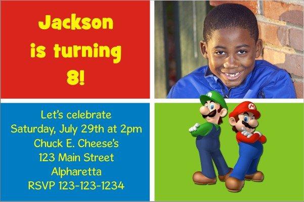 Mario Baby Shower Invitations