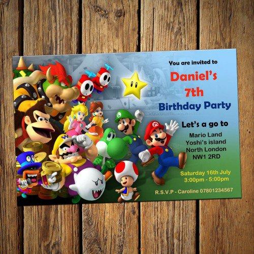 Mario Party Invitations Uk