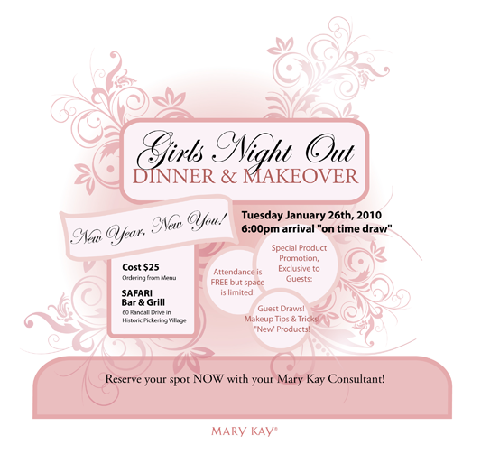 Mary kay invitation ideas for Mary kay invite templates