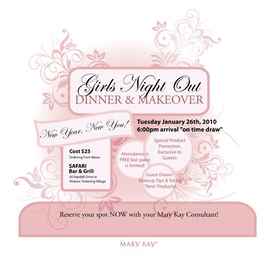 Mary Kay Debut Invitation Ideas