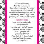 mary kay party invitation templates, Party invitations