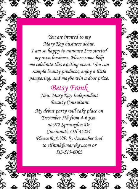 mary kay invite templates mary kay party invitation templates