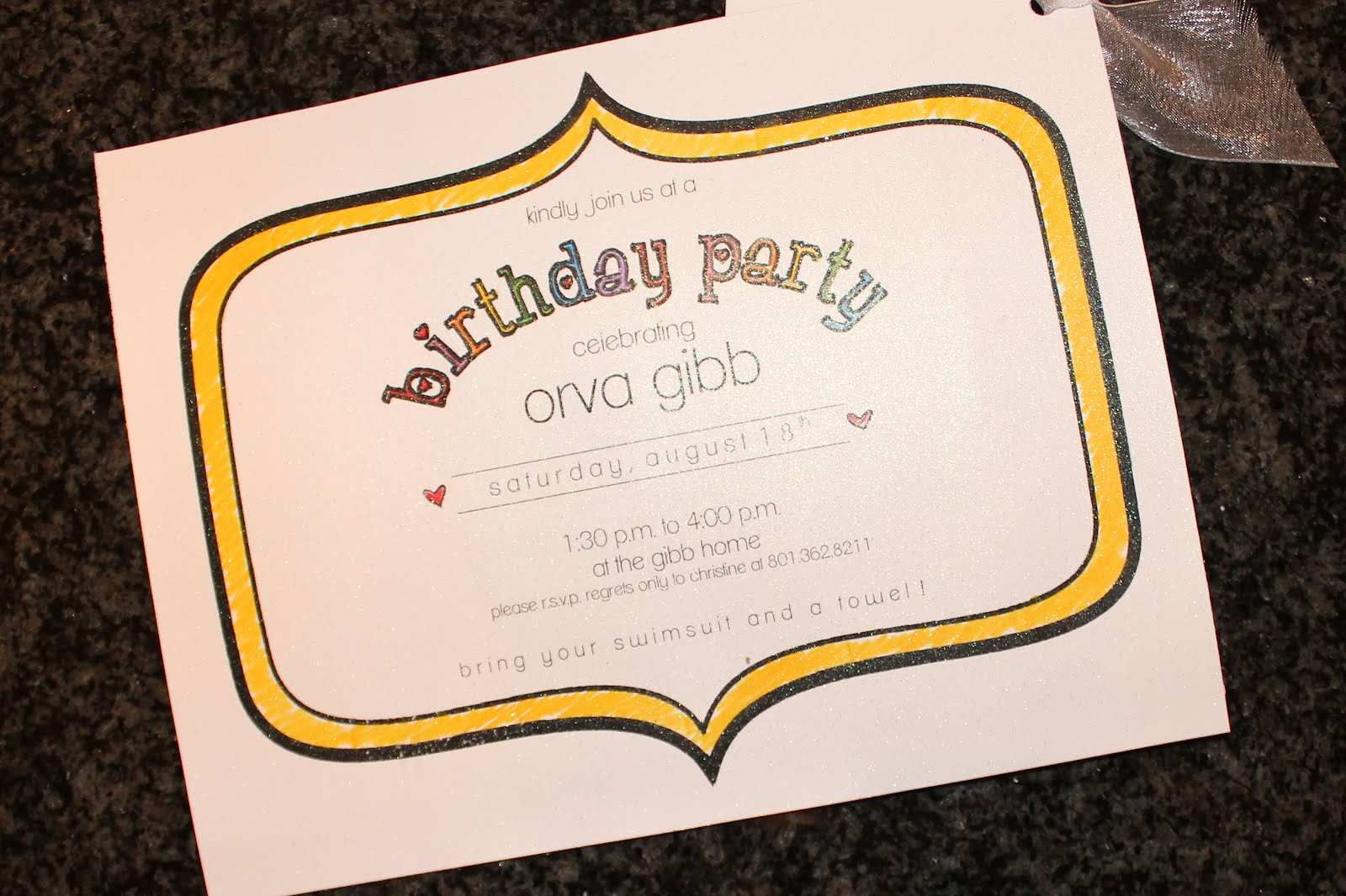 Mason Jar Birthday Invitations