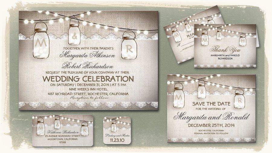 Mason Jar Invitations Template