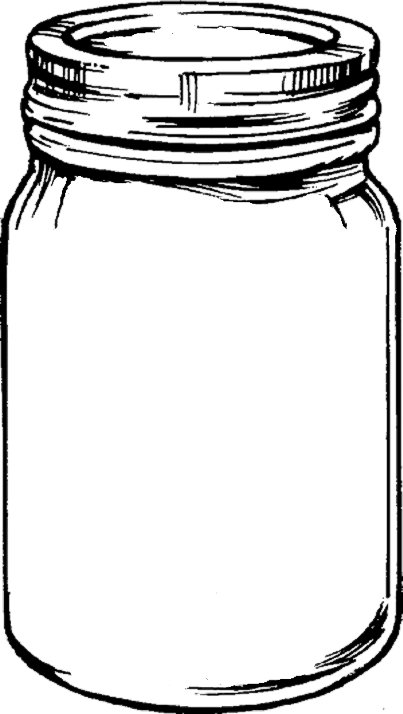 Mason Jar Outline For Invitation