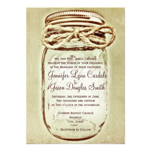 Mason Jar Wedding Invitations Free