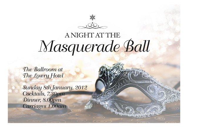 Masquerade Ball Invitations Templates