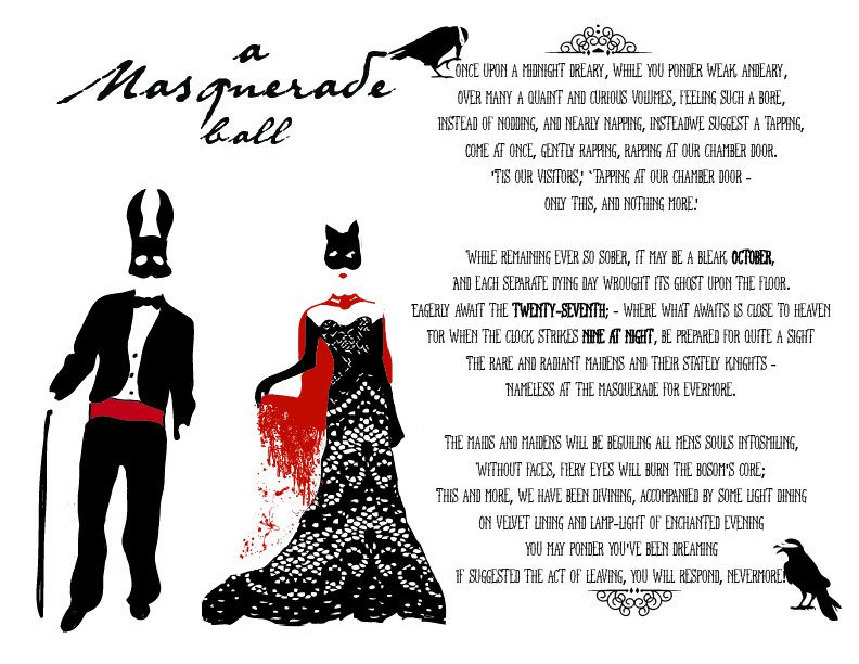 Masquerade Birthday Party Invitation Wording