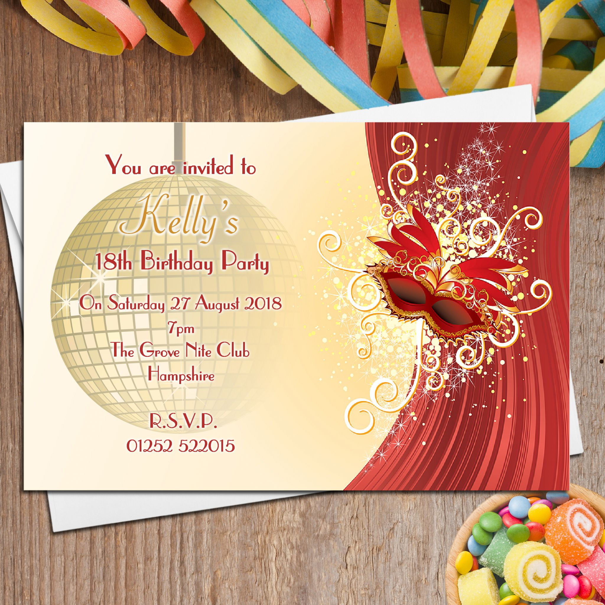 Masquerade Wedding Invitation Wording