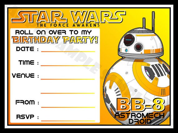 May The Force Awakens The Force Be With You Star Wars Invitations