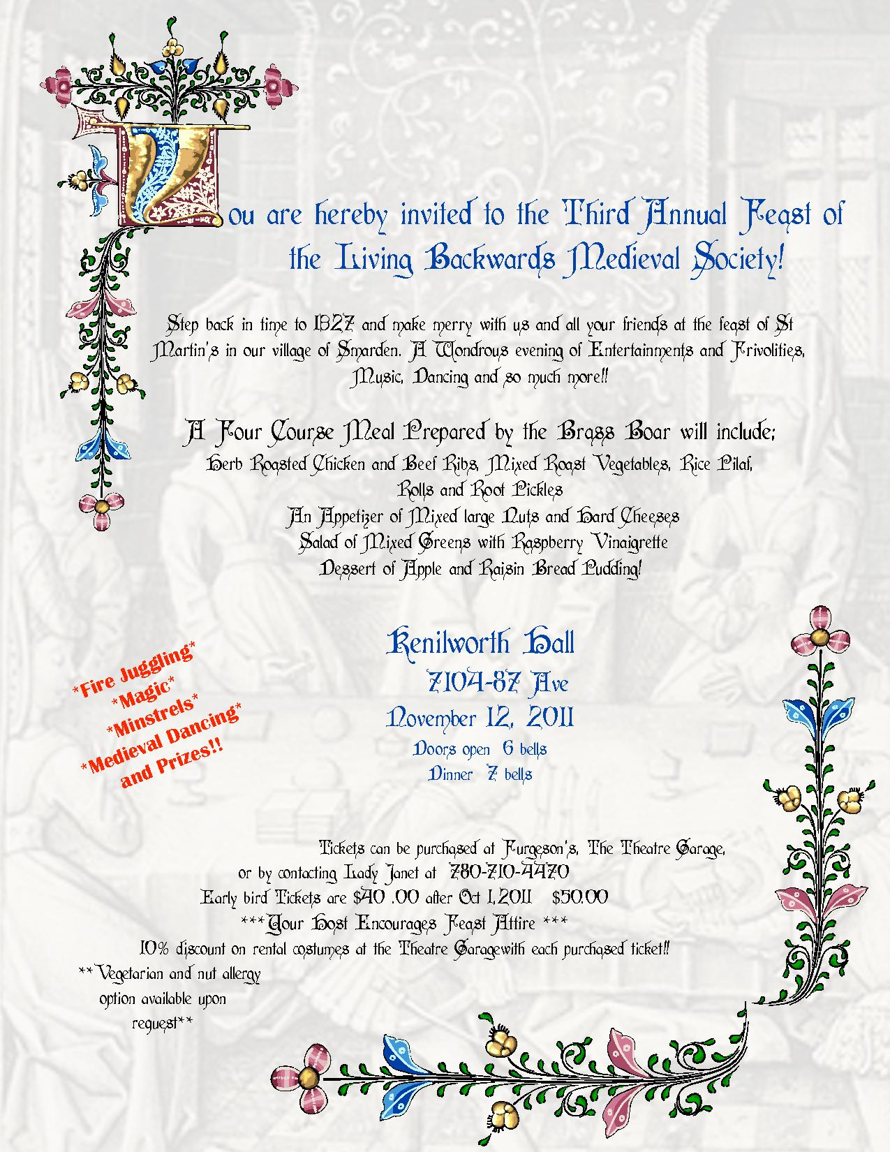Medieval Feast Invitation Templates