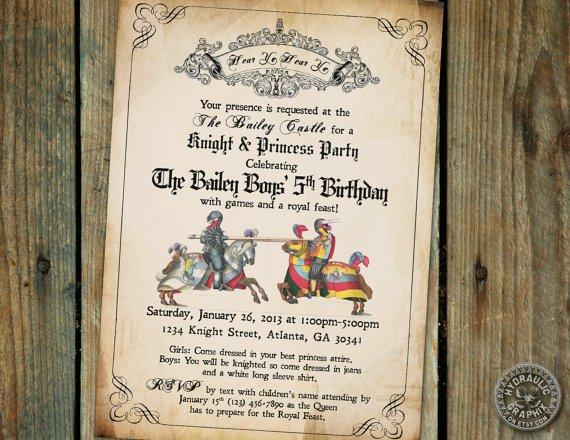 Medieval Times Birthday Invitation