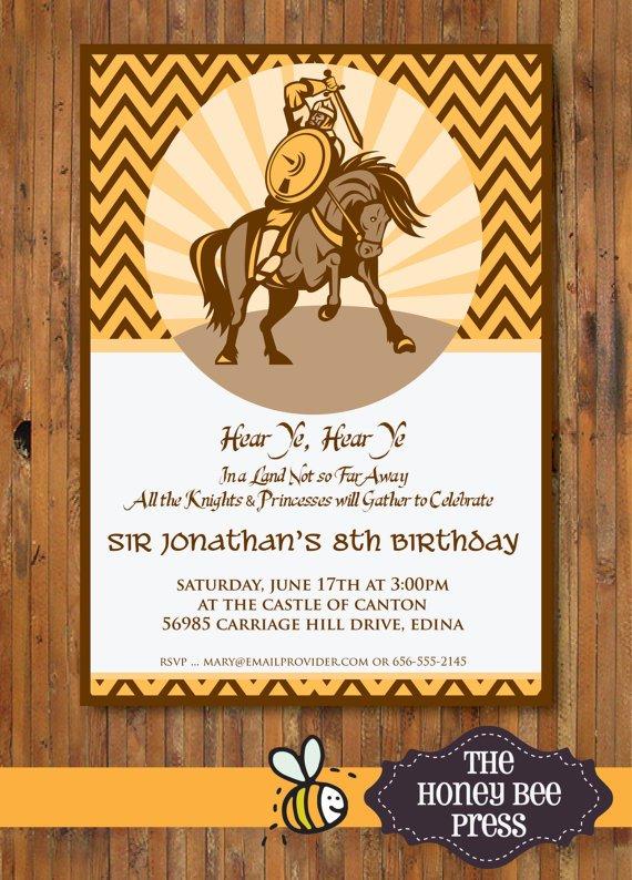 Medieval Times Birthday Invitation Wording