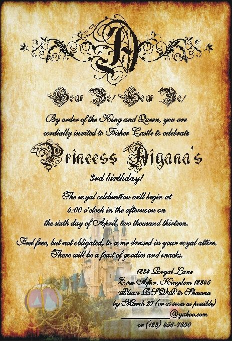 Medieval Times Invitation Templates