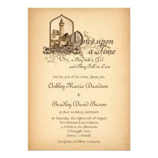 Medieval Wedding Invitation Wording