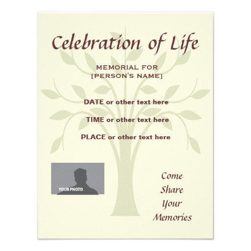 Memorial Celebration Invitations