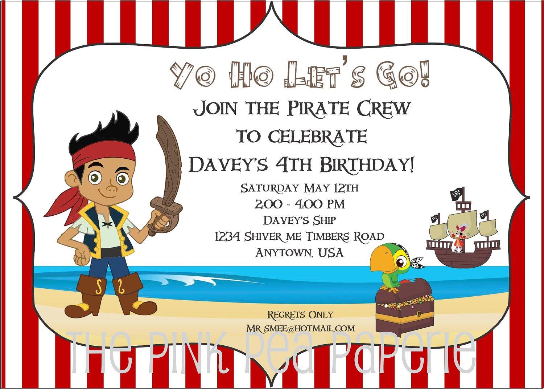 Mermaid And Pirate Invitation Templates