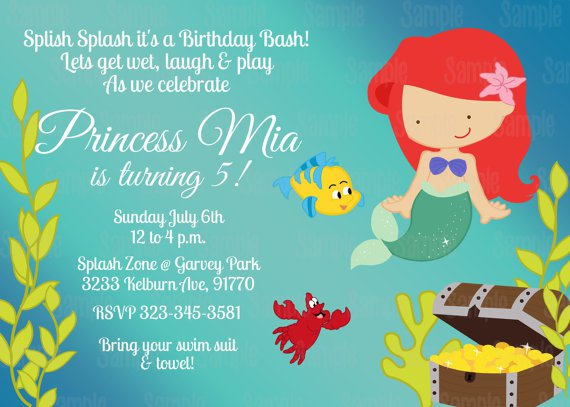 Mermaid Baby Shower Invitation Blank