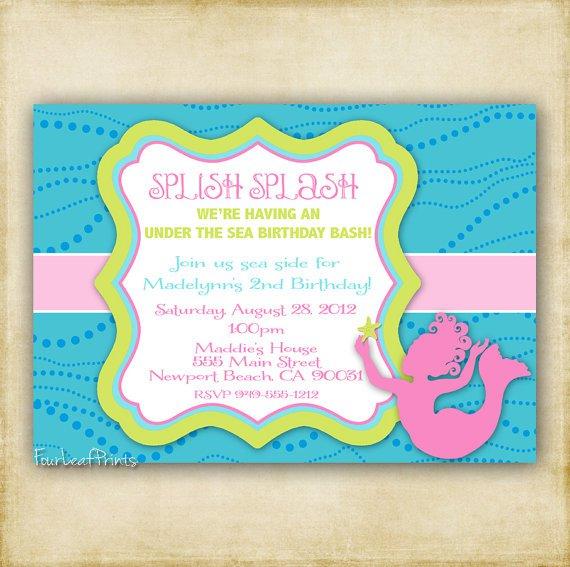 Mermaid Baby Shower Invitation Template