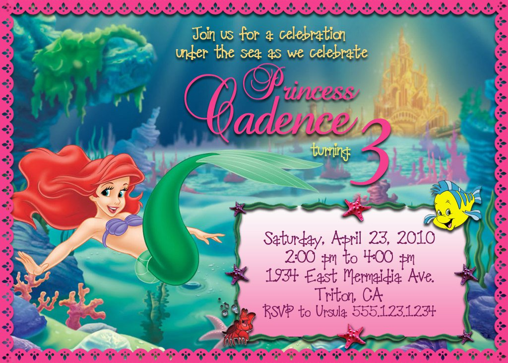 Mermaid Birthday Invitations Ideas