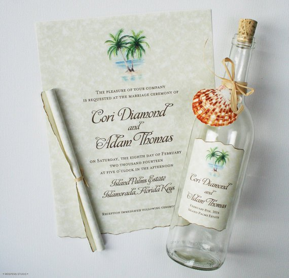 Message In A Bottle Invitations Uk